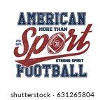 american football stylized... | Shutterstock .eps vector #631265804