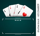 set of four aces playing cards... | Shutterstock .eps vector #631266809