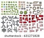 collection for landscape tree... | Shutterstock .eps vector #631271828