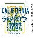 surf t shirt graphic   Shutterstock .eps vector #631275614