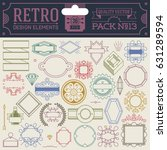 retro design elements hipster... | Shutterstock .eps vector #631289594