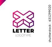 isometric letter x logo icon...   Shutterstock .eps vector #631299020