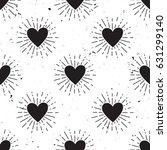 vector grunge seamless pattern... | Shutterstock .eps vector #631299140