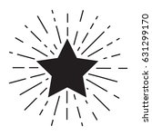 vector grunge vintage star... | Shutterstock .eps vector #631299170