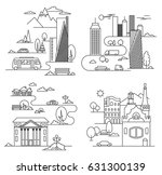 city design elements. linear... | Shutterstock .eps vector #631300139