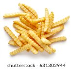 heap of french fries isolated... | Shutterstock . vector #631302944