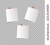 sheets of paper isolated on a...   Shutterstock .eps vector #631314404