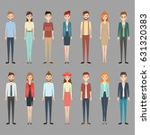 group of working people... | Shutterstock .eps vector #631320383