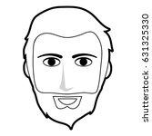black silhouette front face man ... | Shutterstock .eps vector #631325330