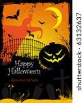halloween illustration | Shutterstock .eps vector #63132637