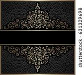 vintage gold on black... | Shutterstock . vector #631329698