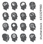 psychology icons | Shutterstock . vector #631329980