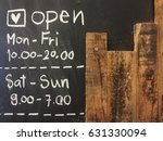 Chalkboard Cafe   Opening Time