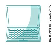 blue silhouette shading laptop... | Shutterstock .eps vector #631330490