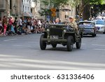Small photo of BRISBANE, AUSTRALIA - APRIL 25, 2017: Old jeep used to help the elderly veterans to take part in the ANZAC parade.