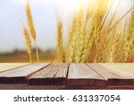 wooden board table in front of... | Shutterstock . vector #631337054
