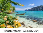 long tail boats  the andaman... | Shutterstock . vector #631337954