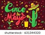 cinco de mayo festival banner... | Shutterstock .eps vector #631344320