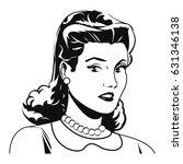 portrait woman pop art angry... | Shutterstock .eps vector #631346138