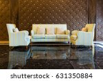 striped cloth sofa with three...   Shutterstock . vector #631350884