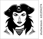 girl pirate   vector... | Shutterstock .eps vector #631354274