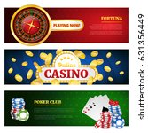 poker and online casino banner... | Shutterstock .eps vector #631356449