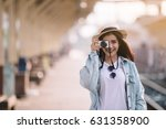 youth culture travel holiday... | Shutterstock . vector #631358900