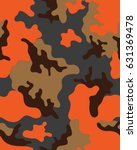 abstract camouflage pattern.... | Shutterstock .eps vector #631369478