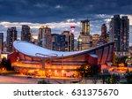 beautiful calgary skyline at... | Shutterstock . vector #631375670