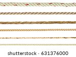 collection of different ropes...   Shutterstock . vector #631376000