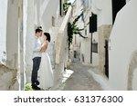 happy romantic couple in... | Shutterstock . vector #631376300