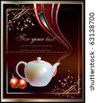 background with tea pot   Shutterstock .eps vector #63138700