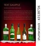background with bottles | Shutterstock .eps vector #63138736