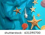 marine blue background with... | Shutterstock . vector #631390700