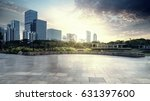 empty brick road nearby office...   Shutterstock . vector #631397600