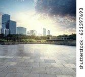 empty brick road nearby office... | Shutterstock . vector #631397693