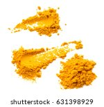 turmeric powder on white... | Shutterstock . vector #631398929