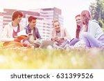 university students studying... | Shutterstock . vector #631399526
