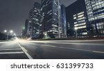 the traffic light trails of city | Shutterstock . vector #631399733