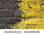 Black Yellow Brick Wall