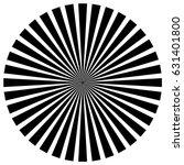 circular pattern of radial ... | Shutterstock .eps vector #631401800