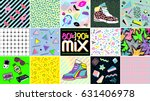 80's  90's mix. abstract... | Shutterstock .eps vector #631406978