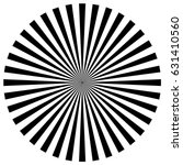 circular pattern of radial ... | Shutterstock .eps vector #631410560