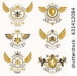 vintage decorative heraldic... | Shutterstock .eps vector #631412084