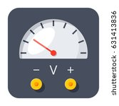 physics concept with voltmeter  ... | Shutterstock .eps vector #631413836