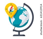 geography concept with globe ... | Shutterstock .eps vector #631413914