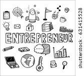 hand draw business doodles... | Shutterstock .eps vector #631415528