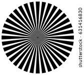 circular pattern of radial ... | Shutterstock .eps vector #631416830