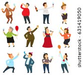 people are dancing  having fun... | Shutterstock .eps vector #631419050