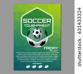 soccer tournament poster or... | Shutterstock .eps vector #631433324
